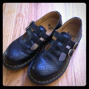 Dr. Martens Double Strap/Buckle T Bar Shoes